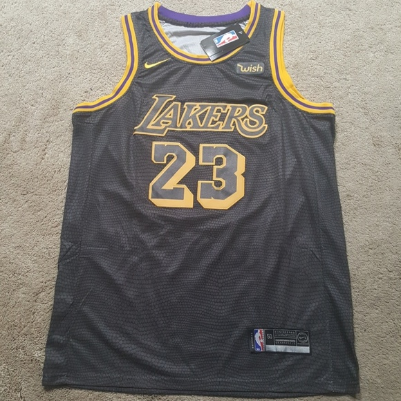 finest selection 702dd 4a7d3 LeBron James Black Lakers Jersey New Stitched NWT